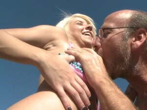 Sexy Tessa Taylor is fucking with old fart