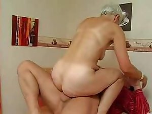 A cock loving granny wants to go out on a hose filled high as she shags