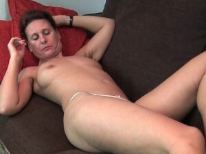 Granny gets his fingers up her full bushed pussy