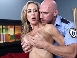 Blonde cougar gets nailed right