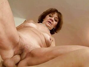 Ugly old bitch gets fucked pretty hard