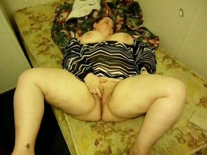 My fat and busty bitch wants me to finger her in bed