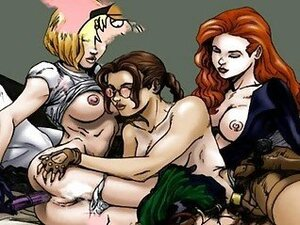 Famous cartoons orgy