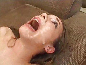 DP in her and then cum splattering her face