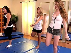 Hot Blondes Get Lustful For Each Other In Yoga Class