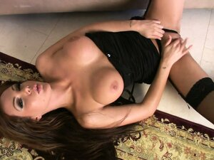Black stockings, top, high heels and totally matchless sex appeal