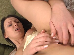 Jennifer Kush lying and masturbating