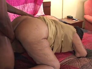 Black granny likes the young cock