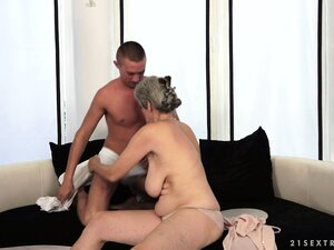 The best thing in life, for this granny, is having a studly young dick to play with
