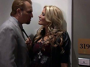 Hot Blonde Slut Jessica Drake Sucks and Fucks For Cash