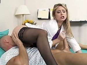 Deep Throated Blonde Sunny Lane Gets a 69 In High Heels and Stockings