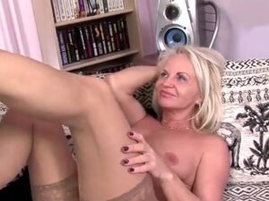 Mature kissing her man in public and at home