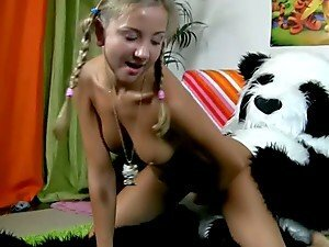 Funny Teen Sex With Slut in Thong Fucking Panda!