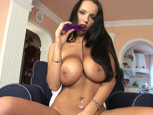 Busty milf amazes with her superb solo show