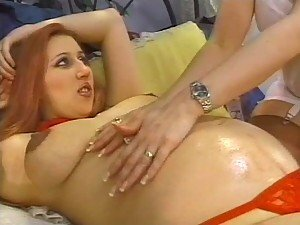 Mistress Tara Goes Lesbian On Her Hot Pregnant Sex Slave Amber