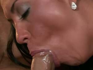 Dirty slut Mariah can't wait to swallow this meaty rod