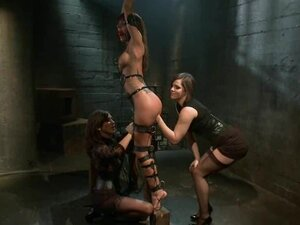 Saucy Haley Wilde gets tormented by these two femdoms