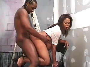 Ebony Preggo Getting Pounded By Her Her Horny Lover