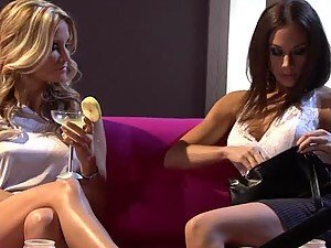 Lezzies Jessica Drake and Chanel Preston Please a Guy in FFM Threesome