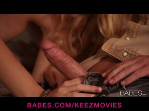 Gorgeous blonde MILF gives her man a passionate wet blowjob
