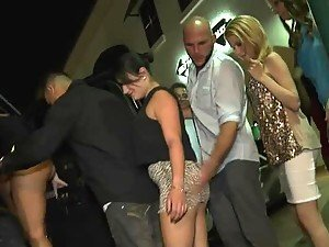 Drunk Party orgy with many horny chick getting fucked