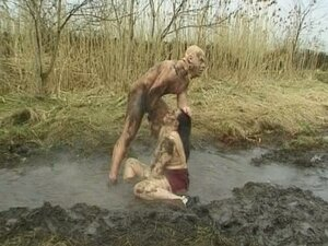 Horny bitch drilled hard in the mud