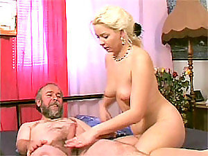Ravishing Blonde Teen Fucks An Old Man