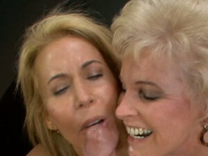 Horny bitches Erica Lauren & Mrs Jewell mouthfuck one cock