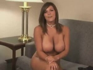 Big tittied Katie Renae undresses at the interview