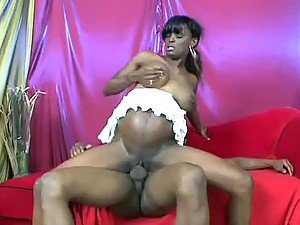 Horny Ebony Preggo Rides A Big Fat Black Cock