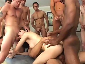 Pornstar Sasha Grey Gets Gangbanged By a Whole Bunch of Cocks