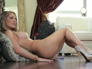 Lovely Blonde Payton Marie in Red High Heels Getting Naked