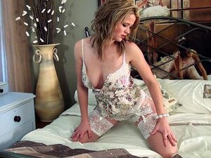 Louise Emerson takes off her stunning dress
