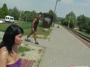 Having Hardcore Sex On The Railway Track