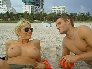 Holly Sampson Topless at the Beach