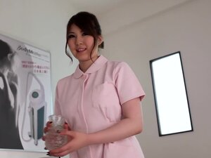 Japanese nurse Momoka Nishina gets oily with her patient