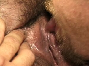 Ugly fat redhead sucks dude's cock and his balls with her huge tits then fucks