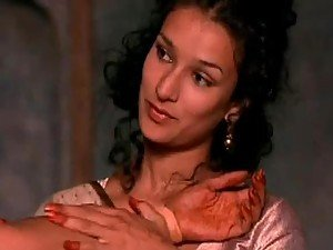 Hot Lesbian Moment Between Indian Babes Indira Varma and Sarita Choudhury