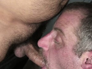 Christan and Tom get hot and heavy in the locker room sucking cock