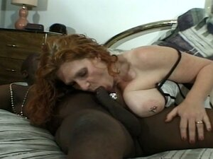Busty milf readhead granny gets ebony chocolate anul action