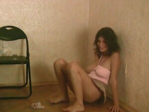 Drunk babe takes a piss in the toilet