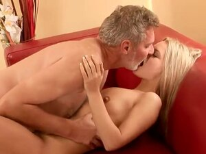 Sabrinka is still very young and inexperienced and she need to be taught some important lesson and that's exactly waht this old man is doing by fucking her naughty and wet pussy.