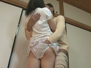 Kurumi Tachibana is forced to ride a cock after lunch
