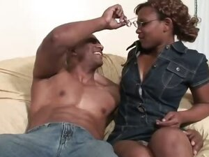 Rain is one sweet ebony bitch who loves to take the big black dick! Her cocoa cunt is sweet as can be, so Jack dips his meat-straw balls deep into it, fucking this black beauty with his ginormous cock until she screams for him to stop!