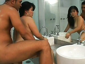 Asian Mariana Doggy Slammed In Bathroom. Part 4