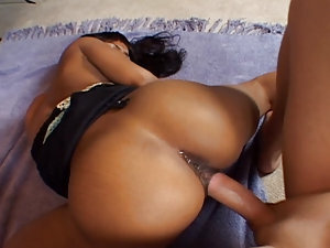 The beautiful black godess Marie Luv is starring in that first scene of Anal Addicts #18 she blows Jerry big cock until he get's hard like Iron then she gets pump in various anal positions and enjoy it deeply until he ejaculate on that sweet face of her's