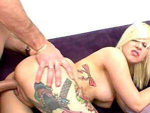 tattooed cutie getting her pussy rammed hard