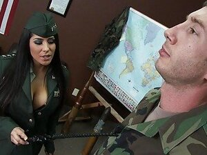 Military officer supports her soldiers
