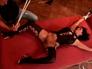 Jasmine Black is getting tied and banged