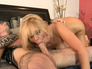 Busty blonde mother in law makes it her mission to satisfy horny new son